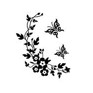 billiga Väggklistermärken-Mode Blommig Väggklistermärken Väggstickers Flygplan Dekrativa Väggstickers Toalettstickers, Vinyl Hem-dekoration vägg~~POS=TRUNC Vägg