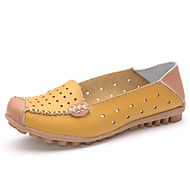 Women's Loafers & Slip-Ons Summer Fall Moccasin Comfort Leather Office & Career Casual Flat Heel