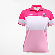 Damen Kurzarm Golf Anatomisches Design Atmungsaktiv Weich Schweißableitend Komfortabel Golfspiel Freizeit Sport