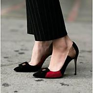 Feminino Sapatos Couro Ecológico Verão Chanel Saltos Para Casual Preto