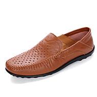 Homme Chaussures Cuir Printemps Eté Moccasin Mocassins et Chaussons+D6148 Pour Décontracté Noir Brun claire Brun Foncé