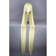Naisten Synteettiset peruukit Suojuksettomat Hyvin pitkä Suora Keltainen Cosplay-peruukki Halloween Peruukki Carnival Peruukki puku