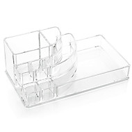 Acrylic Clear Cosmetics Makeup Storage Stand Brush Pot Organizer for Lipstick Nail Polish