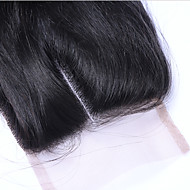 22Inch Braizlian Straight Closure Best Virgin Brazilian Lace Closure Bleached Knots closures Free/Middle/3Part Closure