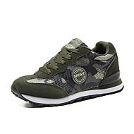 levne Nadměrná obuv-Atletické boty-Tyl-Creepers-Unisex-Armádní zelená-Outdoor Kancelář Atletika-Plochá podrážka