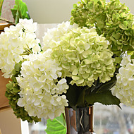 baratos Flores Artificiais-1 Ramo Seda Hortênsia Flor de Mesa Flores artificiais
