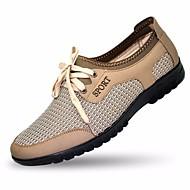 メンズ 靴 PUレザー 夏 スリングバック オックスフォードシューズ 用途 カジュアル グレー キャメル