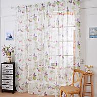 Ein Panel Window Treatment Rustikal Blume Schlafzimmer Leinen Polyestergewebe Stoff Gardinen Shades Haus Dekoration