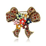 hesapli -Kadın's Broşlar Euramerican Moda Yapay Elmas alaşım Bowknot Shape Çeşitli Renk Mücevher Uyumluluk Düğün Parti Özel Anlar Günlük