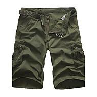 Herre Klassisk & Tidløs Chic & Moderne Europæisk Stil Høj kvalitet Løstsiddende Shorts Bukser Ensfarvet