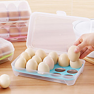 1Pcs  15 Blank Kitchen Refrigerator Eggs Storage Box Holder Preservation Box Portable Plastic Put Eggs Box Home Kitchen Storage Tools Random Color