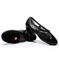 billige Moderne sko-Dame Dansesko Lær Høye hæler Opptreden Tykk hæl Svart Rød Naken 3,5 cm Kan spesialtilpasses