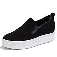 cheap Women's Slip-Ons & Loafers-Women's Shoes Suede Spring / Fall Comfort Loafers & Slip-Ons Flat Heel for Athletic / Office & Career / Party & Evening Black / Fuchsia