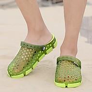 メンズ 靴 ラバー 夏 スリングバック ライト付きソール サンダル 用途 カジュアル ブラック グリーン ブルー