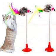 ネコ 猫用おもちゃ ペット用おもちゃ インタラクティブ ティーザー 耐久 ファブリック ペット用