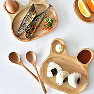 עץ צלחות לארוחה כלי אוכל  -  איכות גבוהה