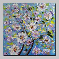 billiga Blom-/växtmålningar-Hang målad oljemålning HANDMÅLAD - Blommig / Botanisk Parfymerad Moderna Inkludera innerram