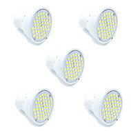 5pcs led smd2835 48led mr16 gu10 led spotlight varm / kul hvit spotlight lampada led lampe ac220-240v