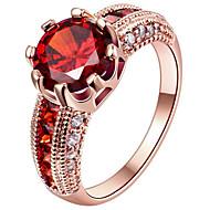 Mulheres Maxi anel Anel Anel de noivado Zircônia cúbica Personalizada Fashion Euramerican Prata de Lei Chapeado Dourado Rosa Folheado a