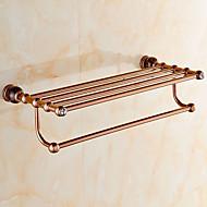 お買い得  グリーン Series-浴室棚 コンテンポラリー 真鍮 壁式