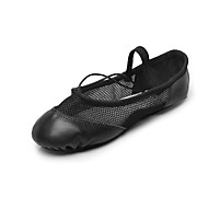 Women's Dance Shoes Fabric Ballet Flats Flat Heel Professional Black