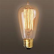 billige Glødelampe-1pc 60W E26/E27 ST64 2300 K Glødende Vintage Edison lyspære AC 220V AC 110-220 AC 110-130V AC 220-240V V