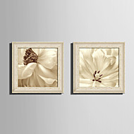 cheap Framed Arts-E-HOME® Framed Canvas Art White Petals Flowers Framed Canvas Print One Pcs