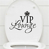 Words & Quotes Wall Stickers Plane Wall Stickers Toilet Stickers,Vinyl Home Decoration Wall Decal For Toilet