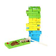 Bausteine Brettspiel Holzpuzzle Stapelspiele Spielzeuge Quadratisch Tiere Kinder 1 Stücke
