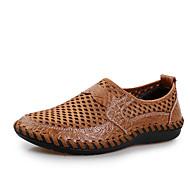 Men's Oxfords Summer Comfort Tulle Outdoor Flat Heel Blue Green Brown Black Walking