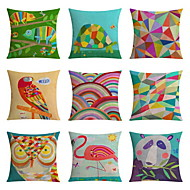 cheap Cushion Sets-9 pcs High Quality Linen Pillow Case Body Pillow Travel Pillow Sofa Cushion Novelty PillowNovelty Geometric Nature Animal Print Graphic Prints