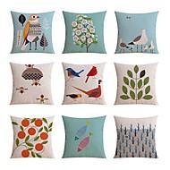 cheap Cushion Sets-9 pcs High Quality Linen Pillow Case Bed Pillow Body Pillow Travel Pillow Sofa CushionFloral Novelty Geometric Animal Print Still Life Graphic Prints