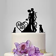 케이크 장식 가든 테마 / 클래식 테마 / 소박한 테마 클래식 커플 아크릴 결혼식 / 기념일 / 처녀 파티 와 OPP