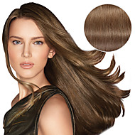 9Pcs/Set Deluxe 120g #8 Ash Brown Clip In Hair Extensions 16Inch 20Inch 100% Straight Human Hair
