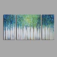 halpa -Maalattu Abstrakti Vaakasuora,Moderni Classic 3 paneeli Kanvas Hang-Painted öljymaalaus For Kodinsisustus