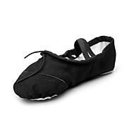 billige Ballettsko-Ballettsko Sateng Flate Satengblomst Flat hæl Kan ikke spesialtilpasses Dansesko Beige / Rød / Rosa / Innendørs