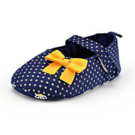 cheap Baby Shoes-Children's Baby Shoes Fabric Summer Fall First Walkers Loafers & Slip-Ons Bowknot Polka Dot for Casual Party & Evening Dress Blue