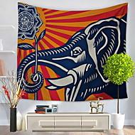 tanie Dekoracje ścienne-Animals Abstrakt Dekoracja ścienna 100% Polyester Wzorzysty Streszczenie Wall Art, Ścienne Gobeliny Dekoracja