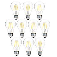 4W フィラメントタイプLED電球 A60(A19) 4 COB 300 lm 温白色 ホワイト 調光可能 V 10個