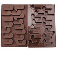 1 Deler Bakeform Tekneserie Formet For Is For Sjokolade For Godteri spirende Silikon Bursdag Ferie