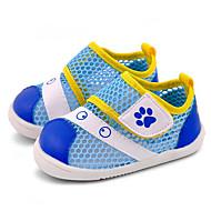 Bebek Ayakkabı Yapay Deri Tül Bahar Sonbahar İlk Adım Düz Ayakkabılar Yürüyüş Alçak Topuk Yuvarlak Uçlu Sihirli Bant Uyumluluk Günlük