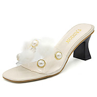 """זול כפכפים ונעלי בית לנשים-נשים סנדלים נוחות גומי קיץ הליכה נוחות עקב עבה שחור בז' אפור מתחת ל 2.54 ס""""מ"""