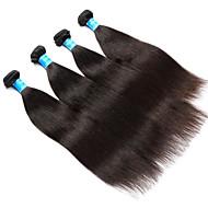 שיער אנושי שיער מבורמה טווה שיער אדם יקי תוספות שיער 4 חלקים שחור