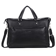 Men Bags Cowhide Briefcase Smooth for Business Casual Formal School Date Work Office & Career All Seasons Black