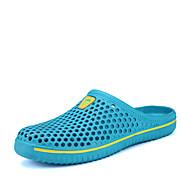 baratos Sapatos Masculinos-Homens Solas Claras Couro Ecológico Verão / Outono Tamancos e Mules Água Preto / Azul / Azul Claro