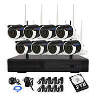 yanse® 2TB HDD 8ch 960p vesitiivis langaton wi-fi IP-kamera NVR sarjat ir DVR järjestelmä 1.3MP CCTV kamera