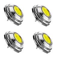SENCART 4pcs 2 W 3000/6000/6500 lm G4 Faretti LED 1 Perline LED COB Oscurabile Bianco caldo Luce fredda Bianco 12 V / 4 pezzi / RoHs