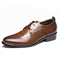 cheap Men's Oxfords-Men's Driving Shoes Microfiber Spring / Summer Business / Comfort Oxfords Black / Brown / Party & Evening