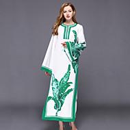 Žene Kaftan Haljina - S izrezom Print Maxi