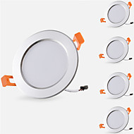 billige Spotlys med LED-5pcs 5 W 500 lm 10 LED perler Lett installasjon Nedfellt Innfelt lampe Led-Nedlys Varm hvit Kjølig hvit 85-265 V Hjem / kontor Barneværelser Kjøkken / 5 stk. / RoHs / CE